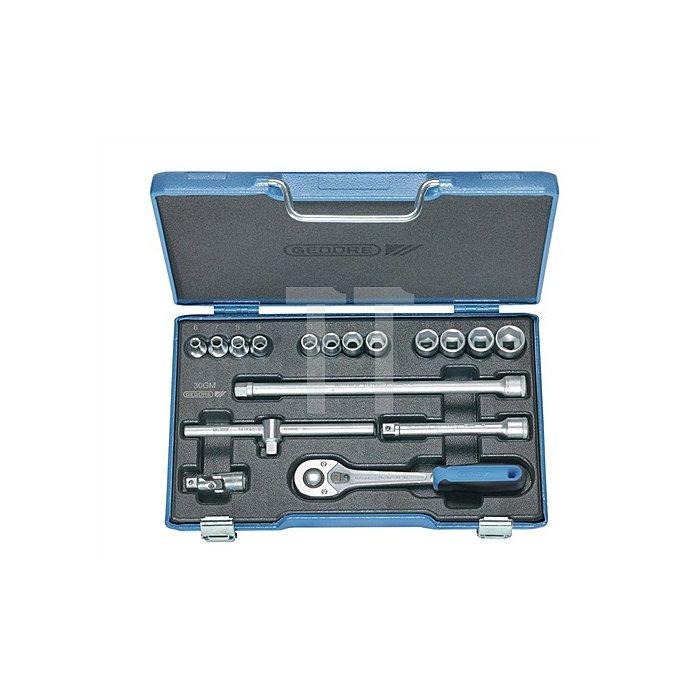 Steckschlüsselsatz 3/8Zoll 17tlg. 6KT 6-19mm UD-Profil