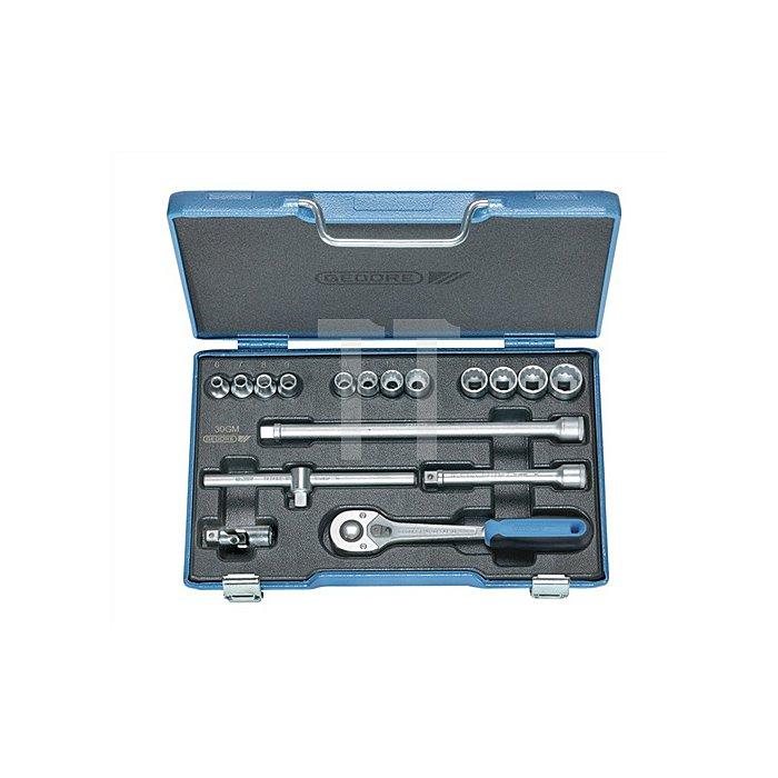 Steckschlüsselsatz 3/8Zoll 17tlg. UD 6-19mm m.Umschalthebel