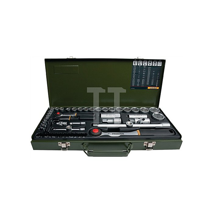 Steckschlüsselsatz CV. 55/32MM PR 4KT 55tlg. 1/4+1/2 PROXXON m.Driver-System