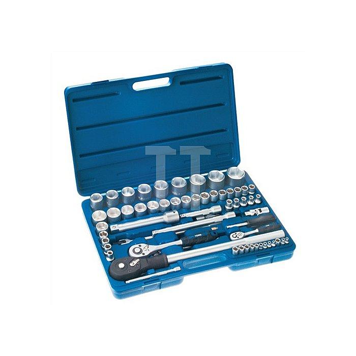 Steckschlüsselsatz CV. 65tlg. 1/4+1/2+3/4/4-12mm/ 8-32mm/26-41mm