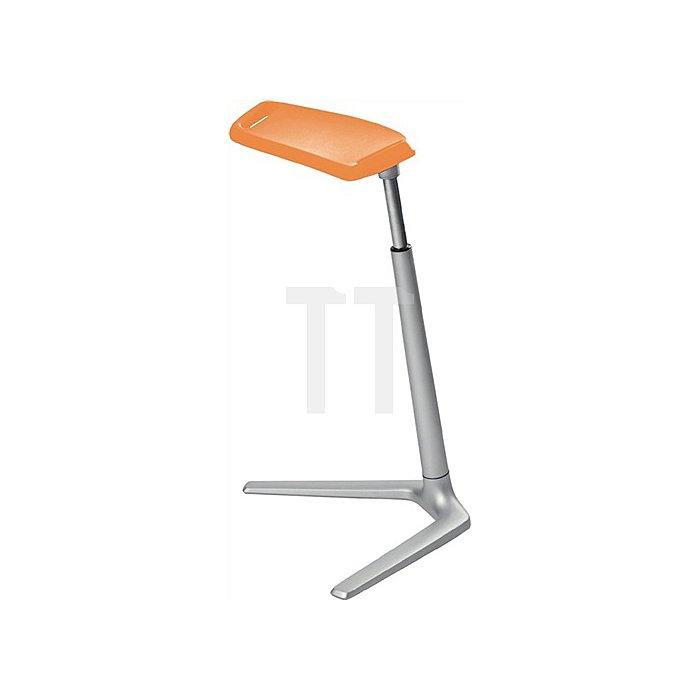 Stehhilfe Fin m.Wechselgleitern PU-Schaum orange Sitz-H.620-850mm BIMOS
