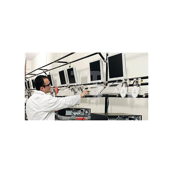 Stehhilfe Fin m.Wechselgleitern PU-Schaum schwarz Sitz-H.620-850mm BIMOS