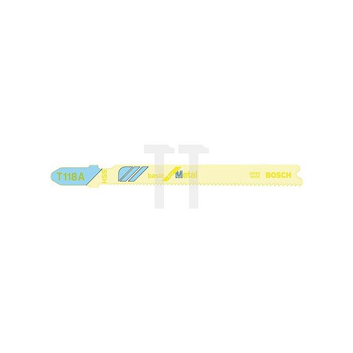 Stichsägeblatt L.67mm HSS Zahnt.1,1mm f.Blech b.3mm BOSCH gefräst
