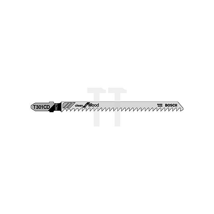 Stichsägeblatt L.91mm HCS Zahnt.3mm f.Weichholz/Spanpl.BOSCH geschliffen