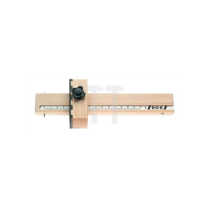 Streichmaß 0-150mm Pockholzauflage ECE