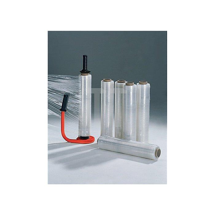 Stretchfolien-Set 1 Abroller, 6 Rollen Stretchfolie 20 my L 300 m, B 450mm
