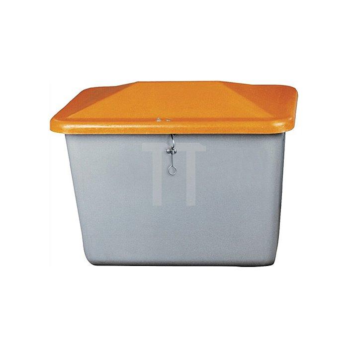Streugutbox Plus 200l grau/orange 890x590x670mm o.Entnahmeöffn.