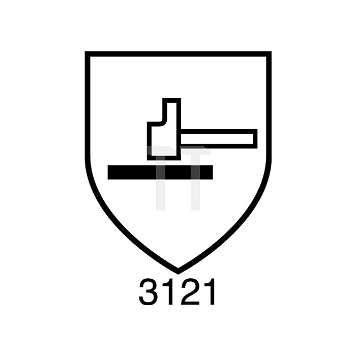 Strickhandschuh PVC-beschichteter Strickbund Klettverschluss Gr. 7
