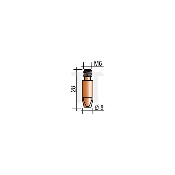 Stromdüse M6, Draht-D.0,8mm L.28mm E-Cu für ERGOPLUS 25/26/36/240