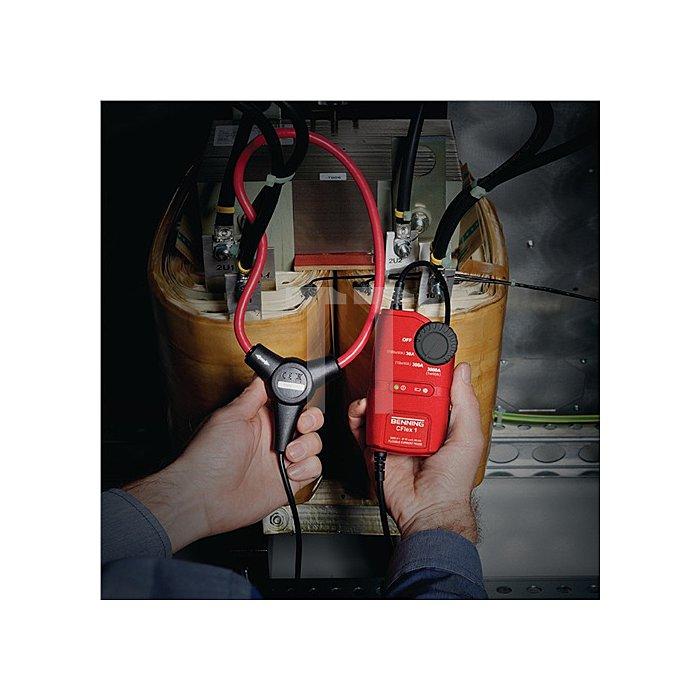 Stromwandler 0,3 - 3000 Ampere flexible Messschleife inkl. Tasche/Batterien