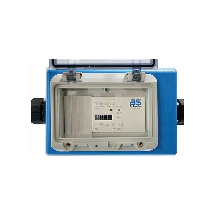 Stromzähler m. CEE_Stecker/ CEE-Kupplung 400 V 16 A 2 x 1,5 m Kabel 5x2,5 IP44