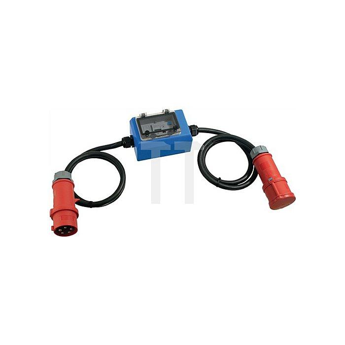 Stromzähler m. CEE_Stecker/ CEE-Kupplung 400 V 32 A 2 x 1,5 m Kabel 5x4,0 IP44