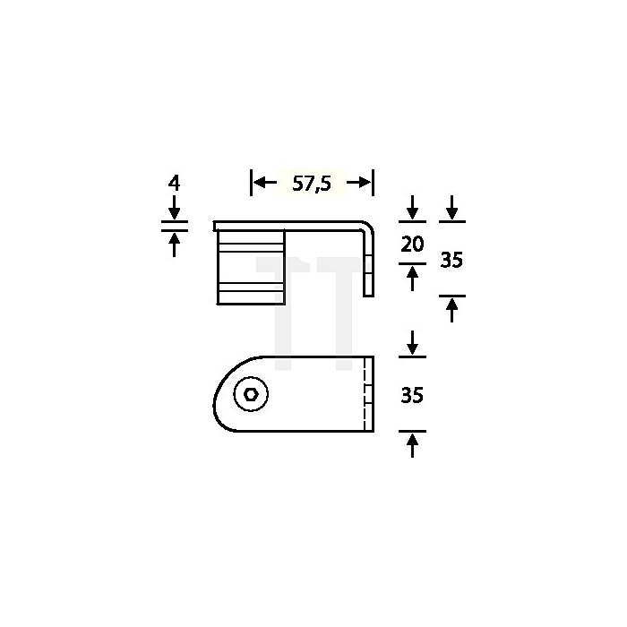 Stütze 6738 05 45 Grad gekröpft li.außen gewinkelt VA feinmatt 6204