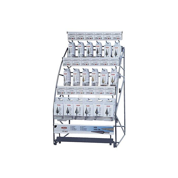Stufenbohrer-Modul HSS + HSS-TiN, spiralgenutet mit Kreuzanschliff in Quadro Pack