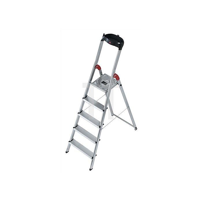 Stufenleiter Alu. 3Stufen 1seitig Plattform-H.660mm 3,5kg m.Arbeitsschale