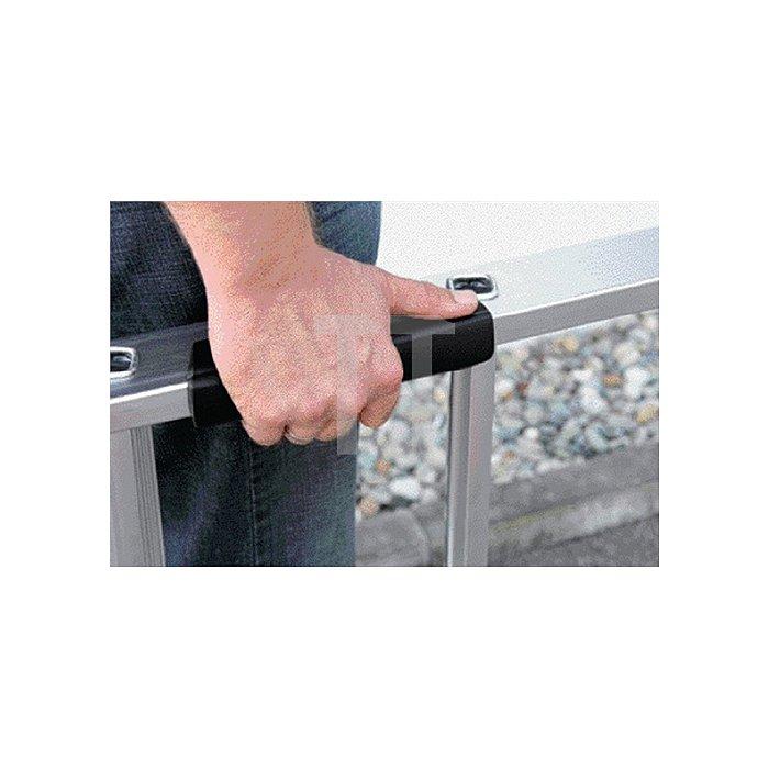 Stufenstehleiter Alu. 4Stufen 1seitig Leiter-H.1570mm u.äußere B490mm