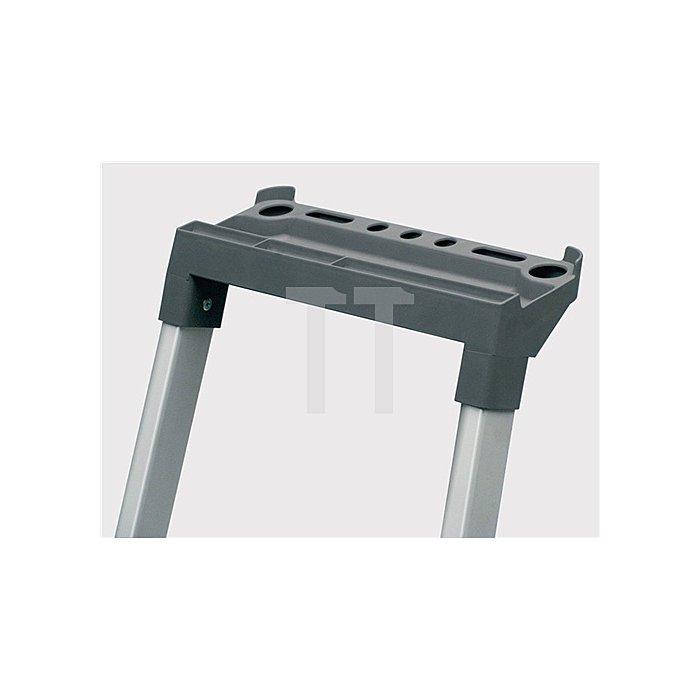 Stufenstehleiter Alu. 6Stufen 1seitig Plattform-H.1240mm 4,9kg elox.Holme