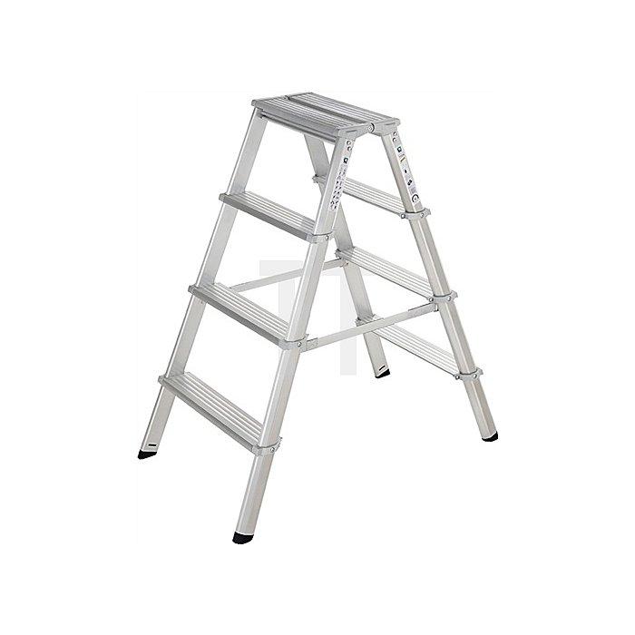 Stufenstehleiter ML Aluminium 4 Stufen beidseitig begehbar