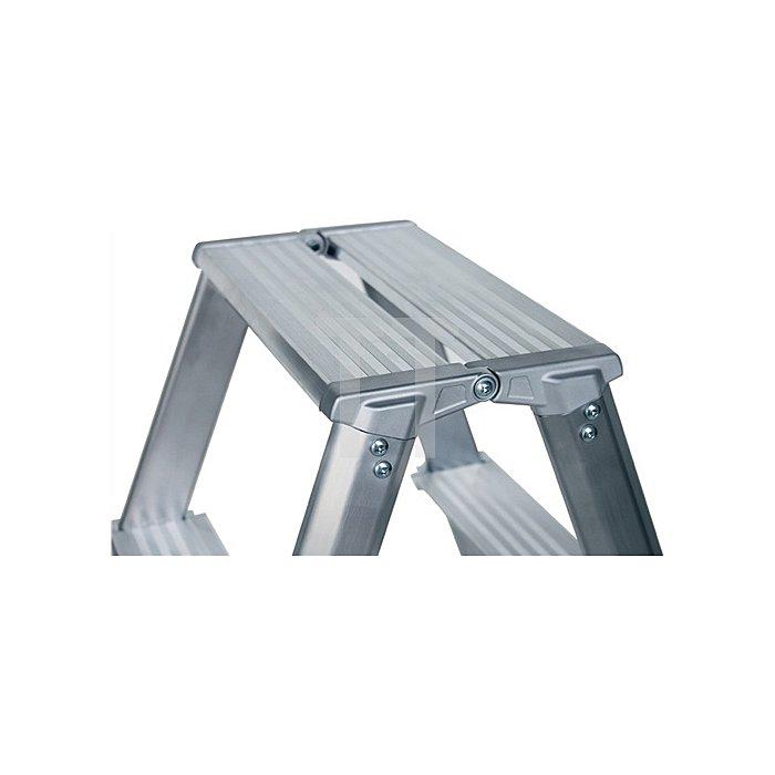 Stufenstehleiter ML Aluminium 5 Stufen beidseitig begehbar