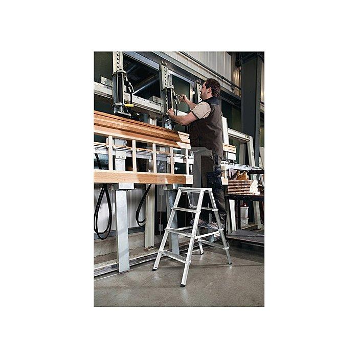 Stufenstehleiter ML Aluminium 7 Stufen beidseitig begehbar