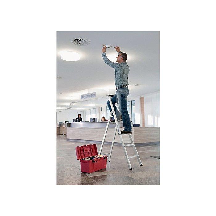 Stufenstehleiter ML Aluminium 7 Stufen einseitig begehbar