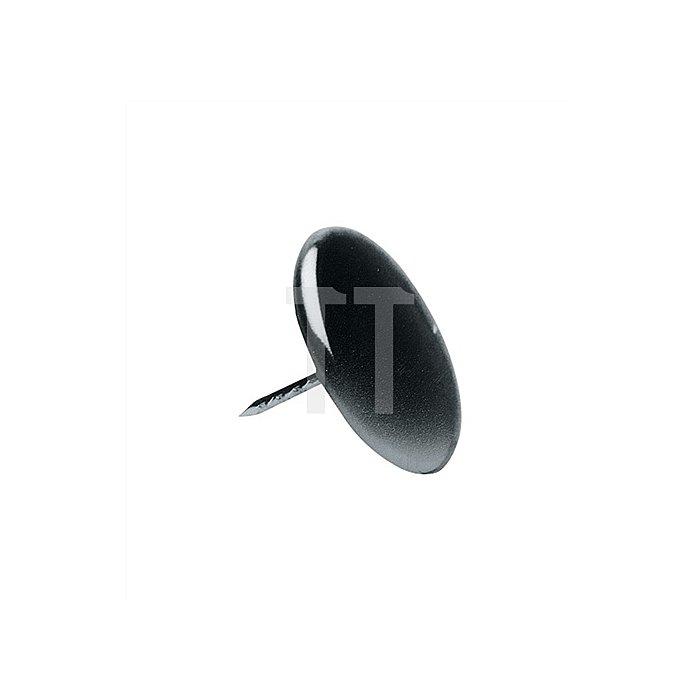 Stuhlbeinnagel Durchmesser 30mm Eisen vernickelt mit Stift