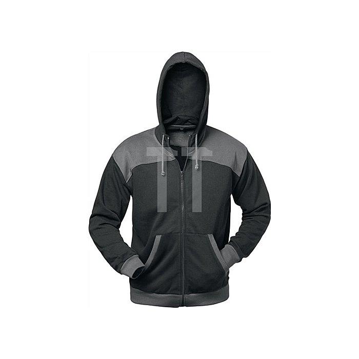 Sweatjacke Florenz Gr.XXL schwarz/grau 80% BW/20%PES