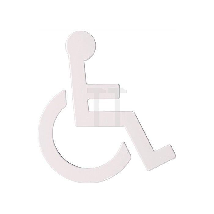 Symbol Behinderte Polyamid lichtgrau selbstklebend ohne Zapfen