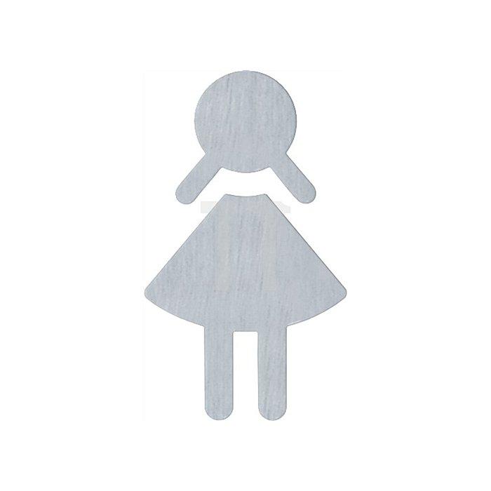 Symbol Damen Edelstahl Edelstahl spiegelpoliert Klebemontage