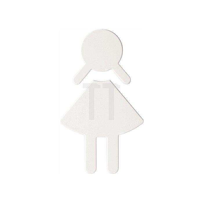 Symbol Damen Polyamid felsgrau selbstklebend ohne Zapfen