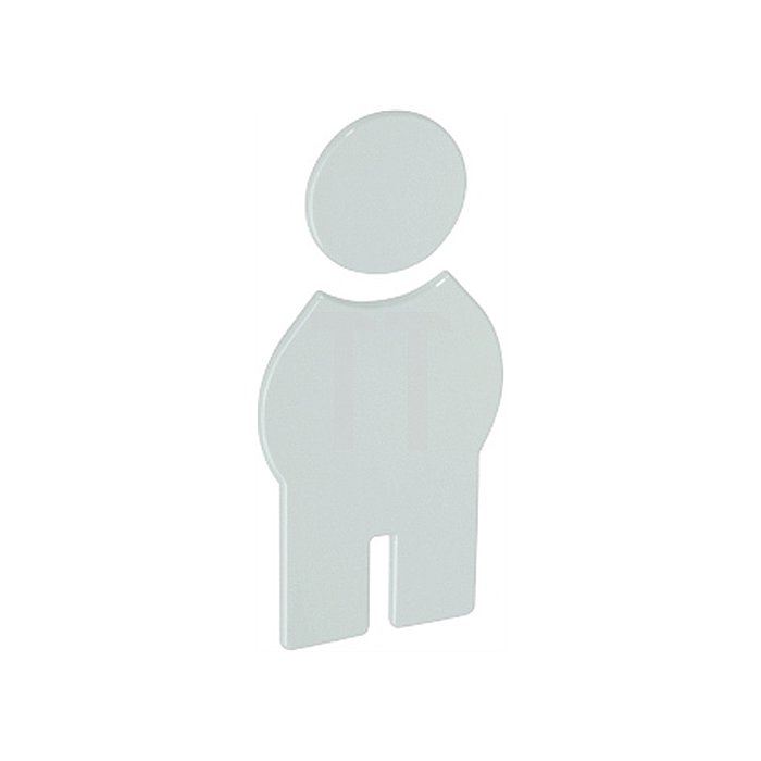 Symbol Herren Polyamid bordeauxrot selbstklebend ohne Zapfen