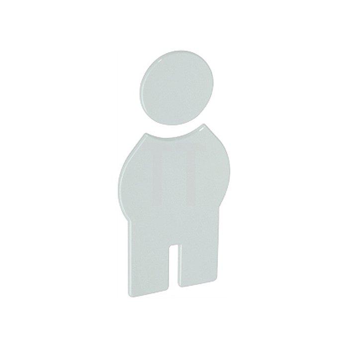 Symbol Herren selbstklebend ohne Zapfen reinweiss