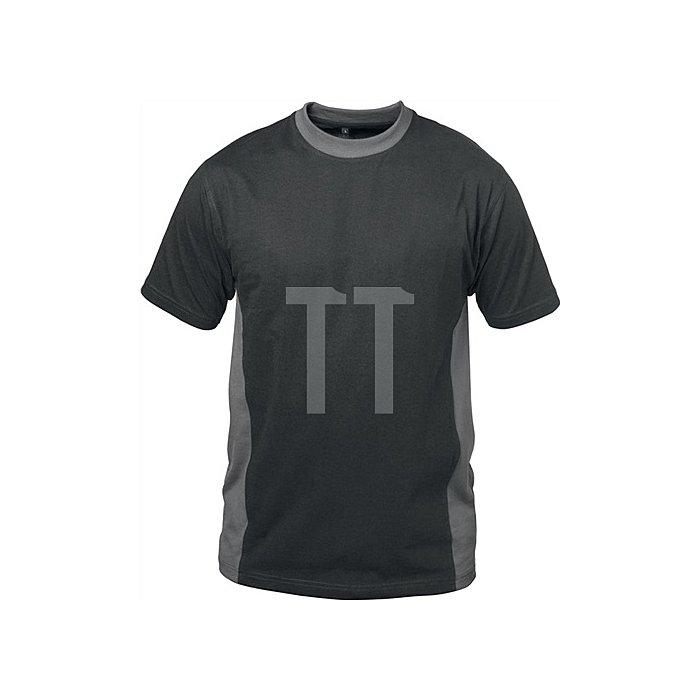 T-Shirt Madrid Gr.XL schwarz/grau 100 % Baumwolle