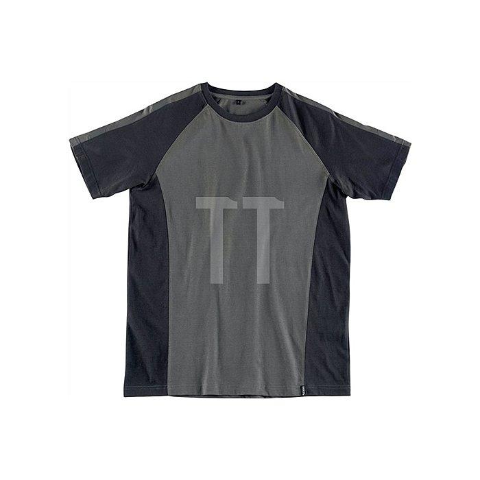 T-Shirt Potsdam Gr.L dunkelanthrazit/schwarz 100% Baumwolle
