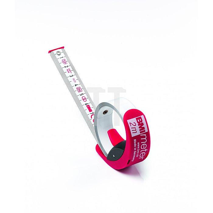 BMI Taschenbandmaß BandmaßImeter Länge 3m weisslackiert 429351021