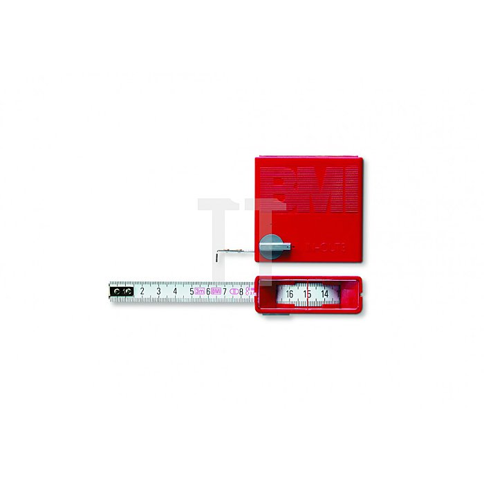 BMI Taschenbandmaß In Out Länge 3m weisslackiert 404351020