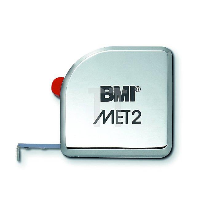 BMI Taschenbandmaß MET Länge 2m weisslackiert 490241230