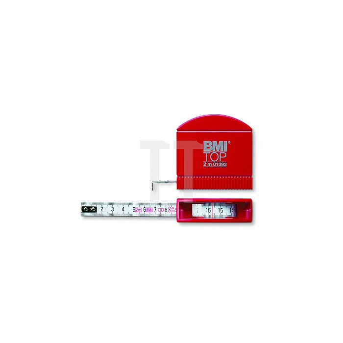 BMI Taschenbandmaß Top Länge 2m weisslackiert 407241020