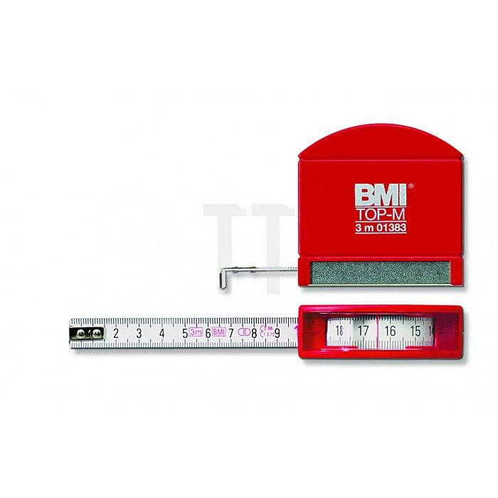 BMI Taschenbandmaß Top M Länge 3m weisslackiert 406341010
