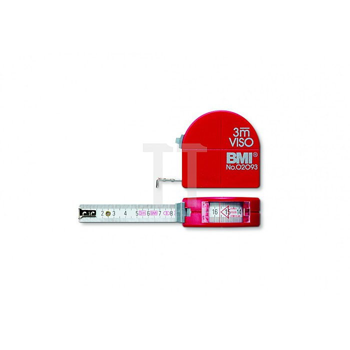 BMI Taschenbandmaß Viso Länge 3m weisslackiert 405341030