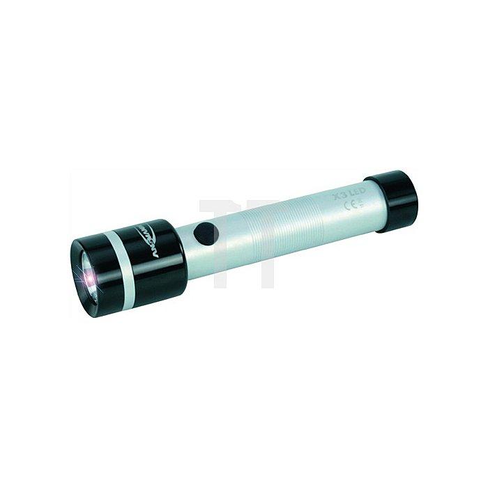 Taschenlampe a.Metall f.2Babyzellen fokussierbar ANSMANN L.24cm LED