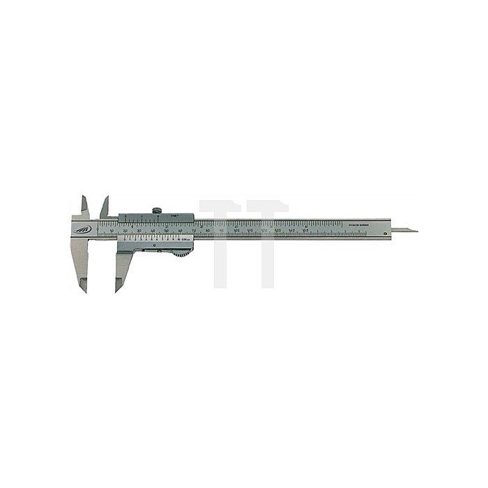 Taschenmessschieber DIN862 DUO-FIX 150mm Schnabel-L.40mm
