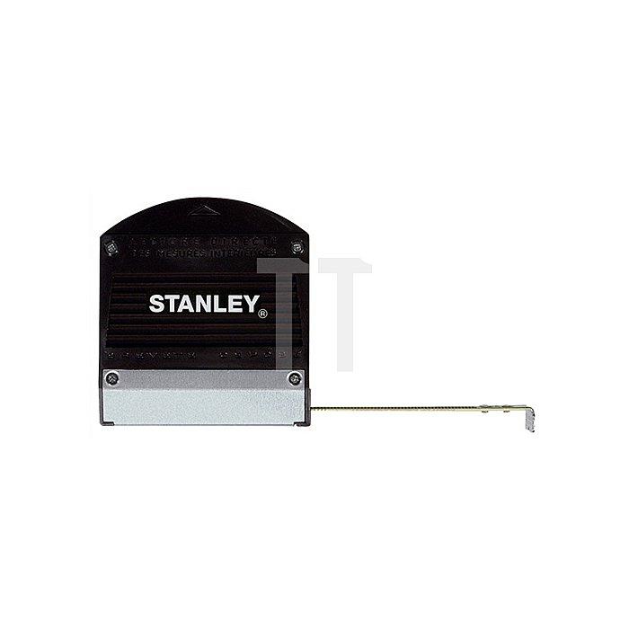Taschenrollbandmaß L.3m B.13mm m.Sichtfenster STANLEY m.Metallfuß