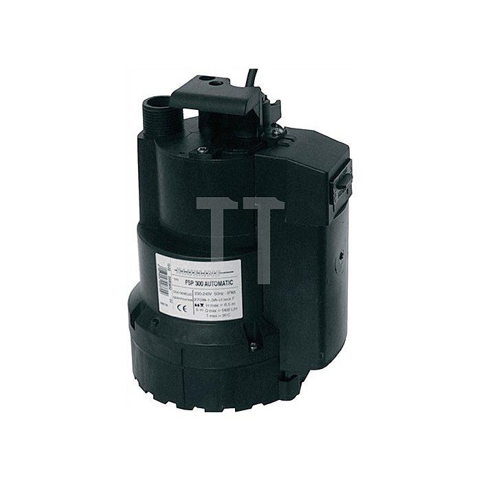 Tauchpumpe FSP 300 Automatic 5400l/h / Förderhöhe 6,5m / 230V / innenlieg.Schwim