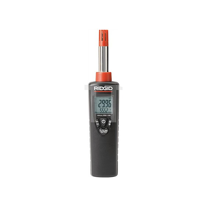 Temperaturmessgerät 0-100% RH Temp. -30°bis 100°C LCD dual Displ. inkl.9V Batt.