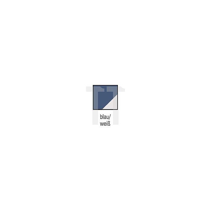 Thermohemdjacke Gr.XL blau/weiss schwarzes Teddyfutter Reißverschluss