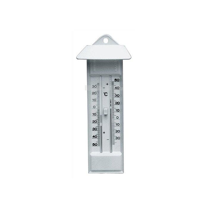 Thermometer Max./Min. m.Drucktaste Ku.-Gehäuse elfenbeinfarben