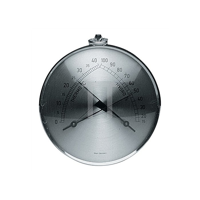 Thermometer/Hygrometer D.100mm m.Ms.-Ring