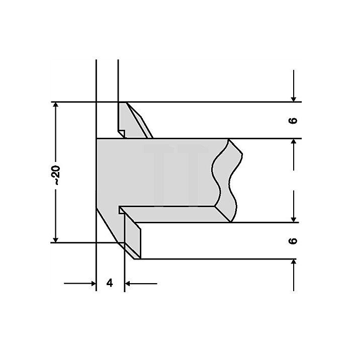 Tiefenmessschieber 200mm abgesetzte Messschiene Brücken-L.100mm PREISSER