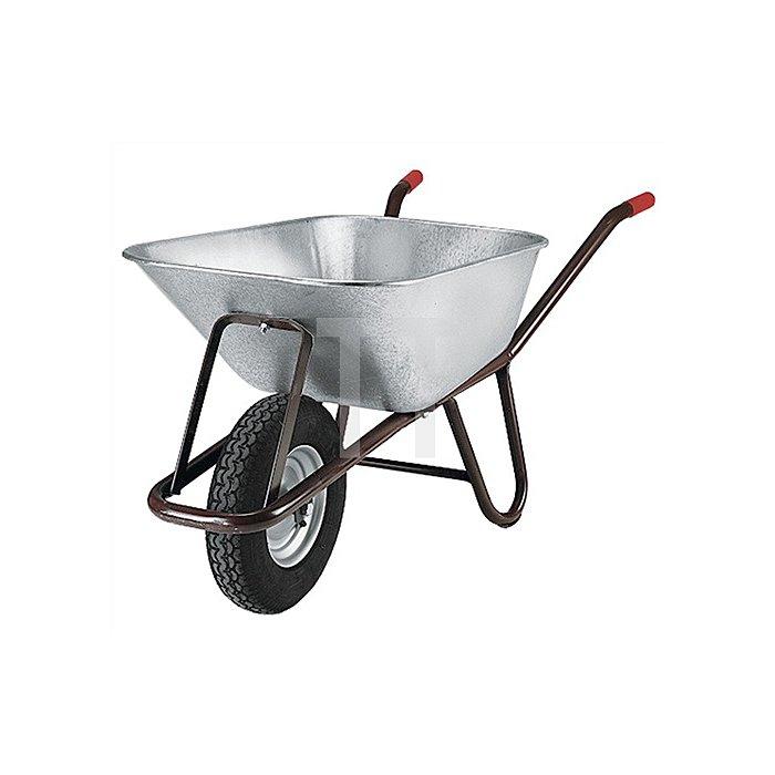 Tiefenmuldenkarre Inhalt 90l auf Stahlfelge Bereifung Luftrad 400 x 100mm